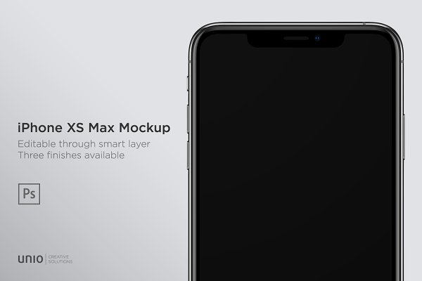 Mobile &amp&#x3B; Web Mockups: Unio | Creative Solutions - iPhone XS Max Mockup