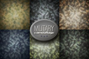 Set of 6 camouflage backgrounds
