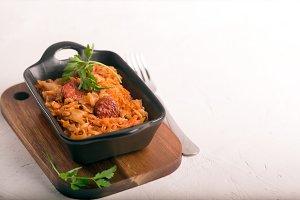 Bigos, a traditional Polish dish