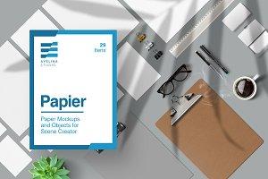 Papier - Stationery Mockups