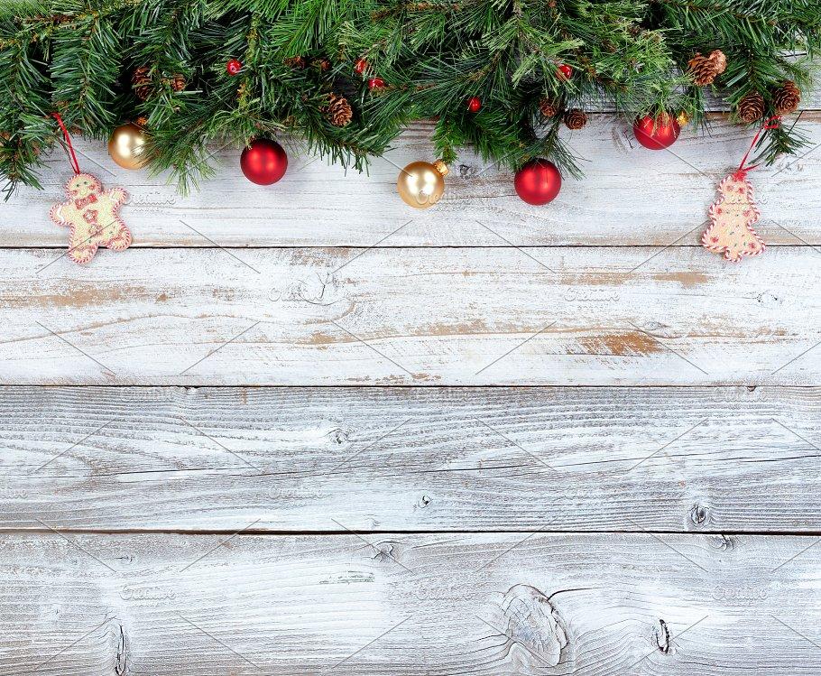 top border of christmas decor holiday photos creative market