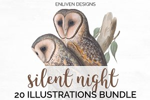 Owls Vintage Birds Bundle 05 (20)