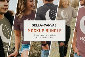 The Bella Canvas 3001 Mockup Bundle