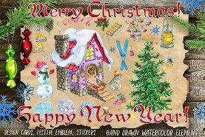 Christmas cards, set 3