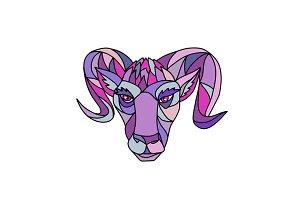 Bighorn Sheep Ram Mosaic Color