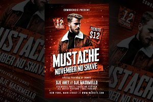 Mustache No Shave Flyer
