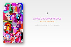 Large Group of People artwork