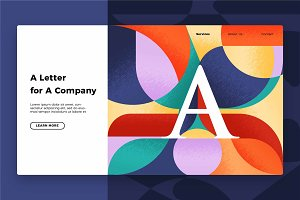 Letter A - Banner & Landing Page