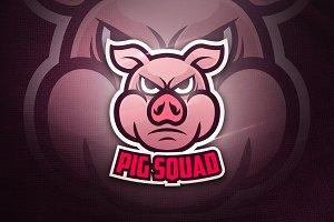 Pig Squad - Mascot Logo