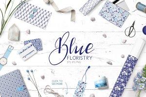 ✽ Blue Floristry ✽ Vector clipart