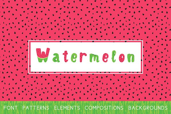 ☼Watermelon Color Font+Vector set!☼