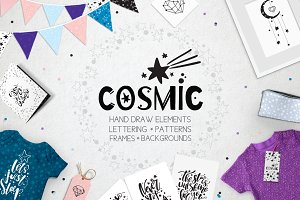 ✷Cosmic set. Objects Hand drawn✷