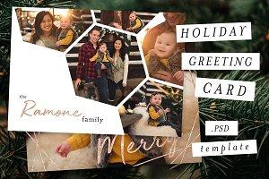 Holiday Christmas Card Template IX