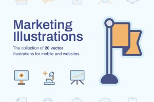 Marketing Illustrations (20 items)