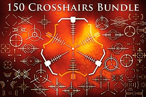 Crosshair Bundle SVG/PNG/EPS/Brushes