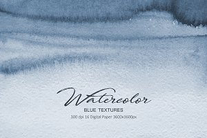 Watercolor Navy Blue Textures