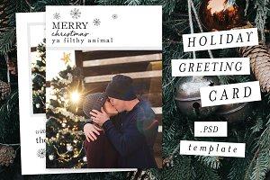 Holiday Christmas Card Template VIII