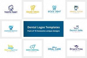 Dental Logos Templates Pack of 10