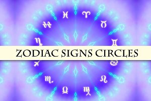 Zodiac circles set. 10 images.