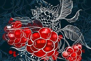 raspberry seamless | JPEG