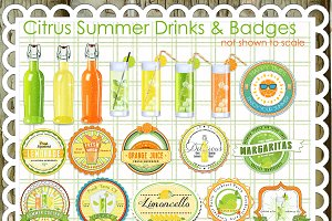 22 Citrus Summer Drinks/Labels