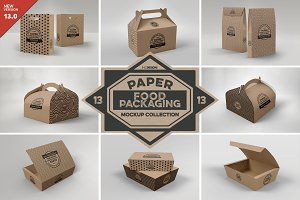 VOL.13 Food Box Packaging Mockups