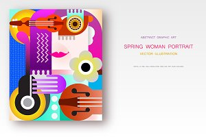 Spring Woman's Portrait vector