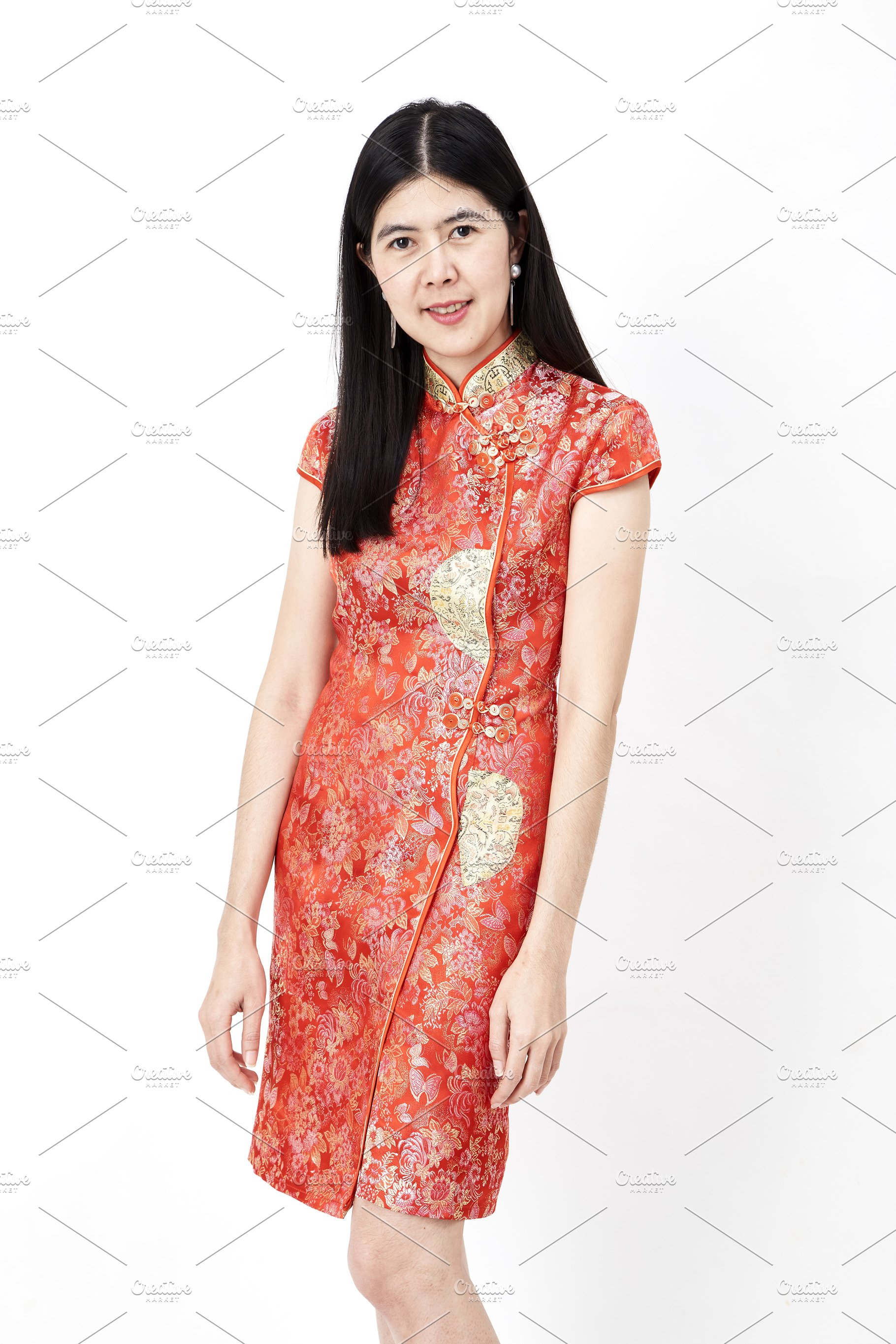 37a86ab54 Chinese new year woman wearing Chine ~ Photos ~ Creative Market