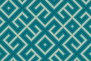 Knitted vintage blue labyrinth