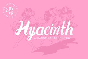 Hyacinth Handmade Brush Font 25% Off