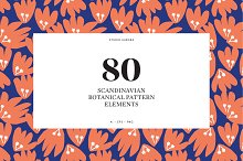 Scandinavian Botanical Pattern Set