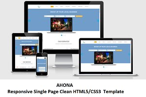 Ahona - Responsive Single Page HTML