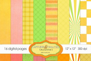 16 Citrus Summer 2 Paper Pack