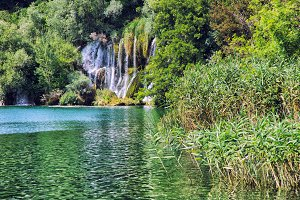 waterfalls of Krk Park Croatia