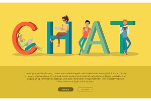Chat Conceptual Flat Style Vector
