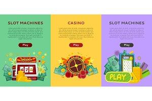 Set of Gambling Vector Banners In