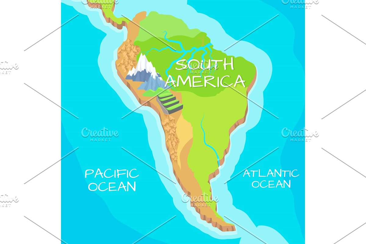 South America Map with Natural ~ Illustrations ~ Creative Market on map of florida oceans, africa oceans, world map oceans, map of pacific oceans, map of australia oceans, europe map oceans, map of western hemisphere oceans, map of england oceans, map of north oceans, map of asia oceans, map of brazil oceans, map of lithuania oceans, map of united states oceans, map of spanish oceans, map of antarctic oceans, map of china oceans, map of alaska oceans, map of egypt oceans,