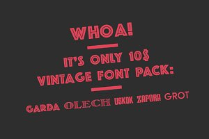 Great Vintage fontpack