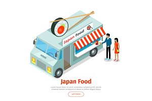 Japan or Chinese Food Truck