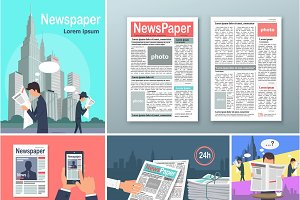 Newspapers. News is Available 24 h