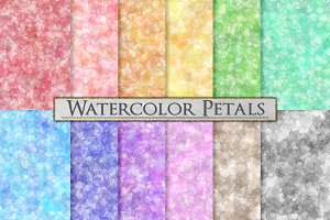 Pastel Watercolor Pattern Background