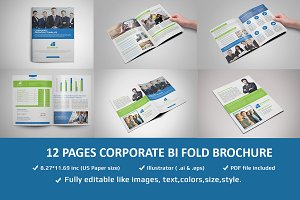12 Pages Corporate Brochure Template