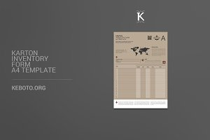 Karton Inventory Form A4 Template