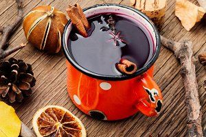 Mulled wine hot drink