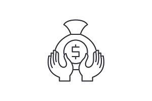 Accumulation line icon concept