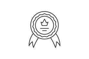 Achievement line icon concept