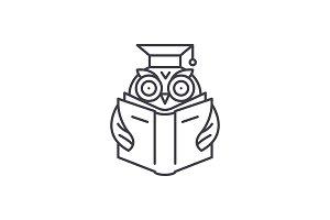 Advanced reading line icon concept