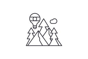 Adventure line icon concept