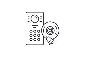 Alarm system line icon concept