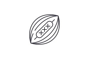 American football line icon concept